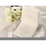 Classic Shimmering Flower anniversary invitation