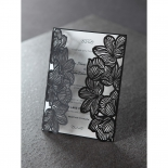 Floral Laser Cut Elegance Black anniversary party invite