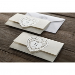 Letters of love anniversary party card