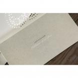 Letters of love anniversary invitation card