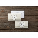 Letters of love anniversary party invite card