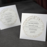 Luscious Forest Laser Cut anniversary party invite card