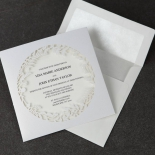 Luscious Forest Laser Cut anniversary party invite card design