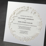 Luscious Forest Laser Cut anniversary party invitation design