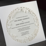 Luscious Forest Laser Cut anniversary party invite