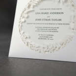 Luscious Forest Laser Cut anniversary party invitation card design