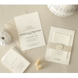 Blind Embossed Regal Crest - Wedding Invitations - WP-IC55-BLBF-01 - 178927