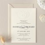 Blind Embossed Regal Crest - Wedding Invitations - WP-IC55-BLBF-01 - 178922