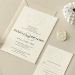 Blind Embossed Regal Crest - Wedding Invitations - WP-IC55-BLBF-01 - 178921
