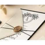 Captivating Ebony Wreath - Wedding Invitations - WP-CU550-B-01 - 178948