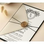 Captivating Ebony Wreath - Wedding Invitations - WP-CU550-B-01 - 178944
