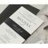 Black and Chic Letterpress - Wedding Invitations - WP-IC55-LP-04 - 179039