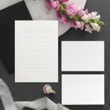 Chic Blind Letterpress on Cotton White - Wedding Invitations - WPBD-01 - 178506