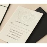 Blind Embossed Regal Crest - Wedding Invitations - WP-IC55-BLBF-01 - 178928