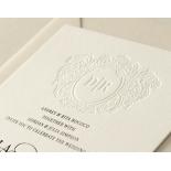Blind Embossed Regal Crest - Wedding Invitations - WP-IC55-BLBF-01 - 178919