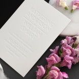 Chic Blind Letterpress on Cotton White - Wedding Invitations - WPBD-01 - 178505