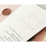Blushed We're Engaged  - Wedding Invitations - WP-IC55-LP-12 - 179057