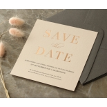 Blush and White Foiled Save the Date - Wedding Invitations - WP-CR14-SD-RG - 178845