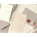 Romantic Blush and Pale Grey - Wedding Invitations - WP-CR07-RG-02 - 178979