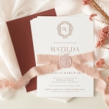 Royal Blush Letterpress - Wedding Invitations - WP-IC55-LP-07 - 178912