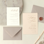 Romantic Blush and Pale Grey - Wedding Invitations - WP-CR07-RG-02 - 178980