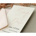 Blush Peach Save Our Date - Wedding Invitations - WP-CR14-SD-BL-2 - 179024