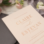 Shades of Grey and Blush with Rose Gold Foil  - Wedding Invitations - WP301GG - 178224