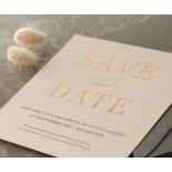 Blush and White Foiled Save the Date - Wedding Invitations - WP-CR14-SD-RG - 178844