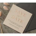 Blush and White Foiled Save the Date - Wedding Invitations - WP-CR14-SD-RG - 178846