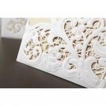 Embossed Floral Pocket bridal shower party invite design