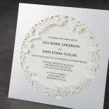 Luscious Forest Laser Cut bridal shower card design