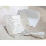 Wild Laser cut Flowers bridal shower invite card
