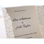 Wild Laser cut Flowers bridal shower invite card design