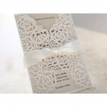 Wild Laser cut Flowers bridal shower invitation design