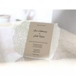 Wild Laser cut Flowers bridal shower invitation card