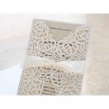 Wild Laser cut Flowers bridal shower invitation card design