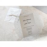 Wild Laser cut Flowers bridal shower card