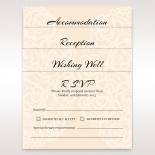 Wild Laser cut Flowers bridal shower party invitation