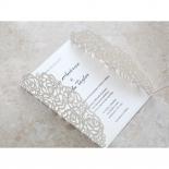 Wild Laser cut Flowers bridal shower card design