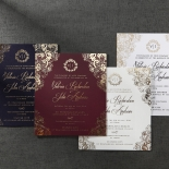 Imperial Glamour bridal shower party invitation card