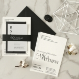 Sophisticated in Grey Letterpress - Wedding Invitations - WP-IC55-LP-01 - 178804