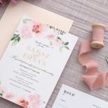 Gold and Floral Triplex Invitation - Wedding Invitations - WP306GG - 178347