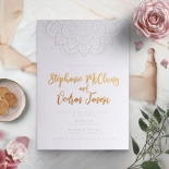 Coloured Mehndi Letterpress with Gold - Wedding Invitations - WP001FB-EB-2 - 178162