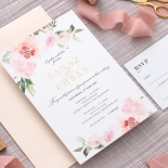 Gold and Floral Triplex Invitation - Wedding Invitations - WP306GG - 178348