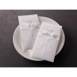 Classic Ivory Damask corporate party invitation design