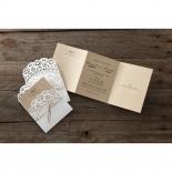 Laser Cut Doily Delight corporate party invitation card design