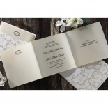 Precious Pearl Pocket corporate invite card design