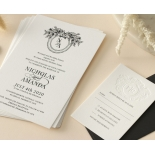 Captivating Ebony Wreath - Wedding Invitations - WP-CU550-B-01 - 178946