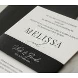 Black and Chic Letterpress - Wedding Invitations - WP-IC55-LP-04 - 179040