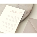Romantic Blush and Pale Grey - Wedding Invitations - WP-CR07-RG-02 - 178977